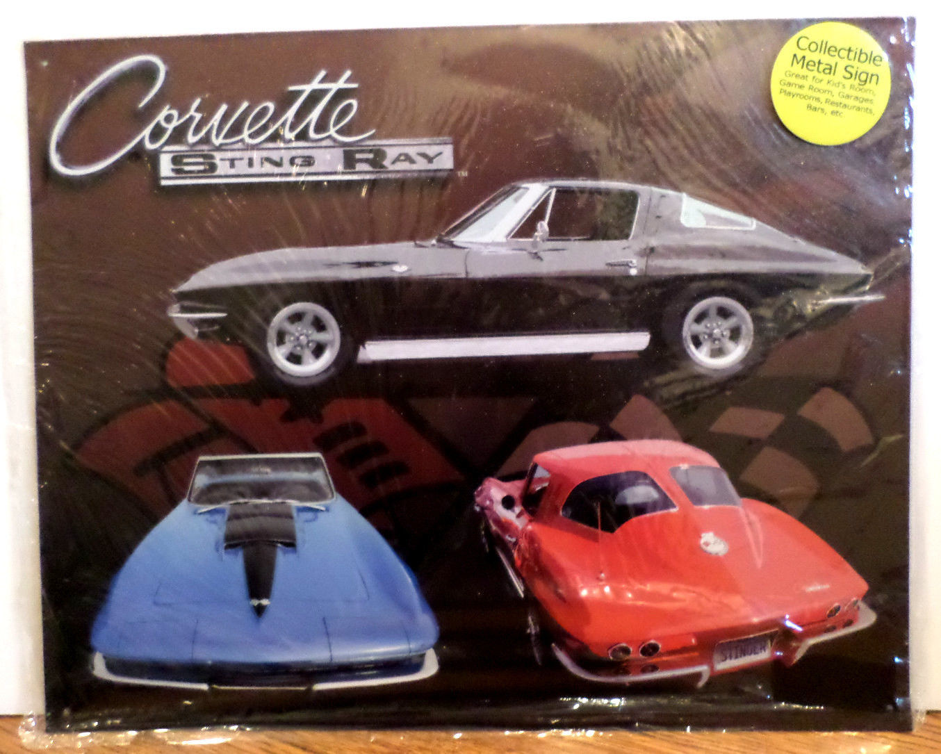 Corvette Man Cave Signs : Corvette sting ray home man cave work sign metal wall