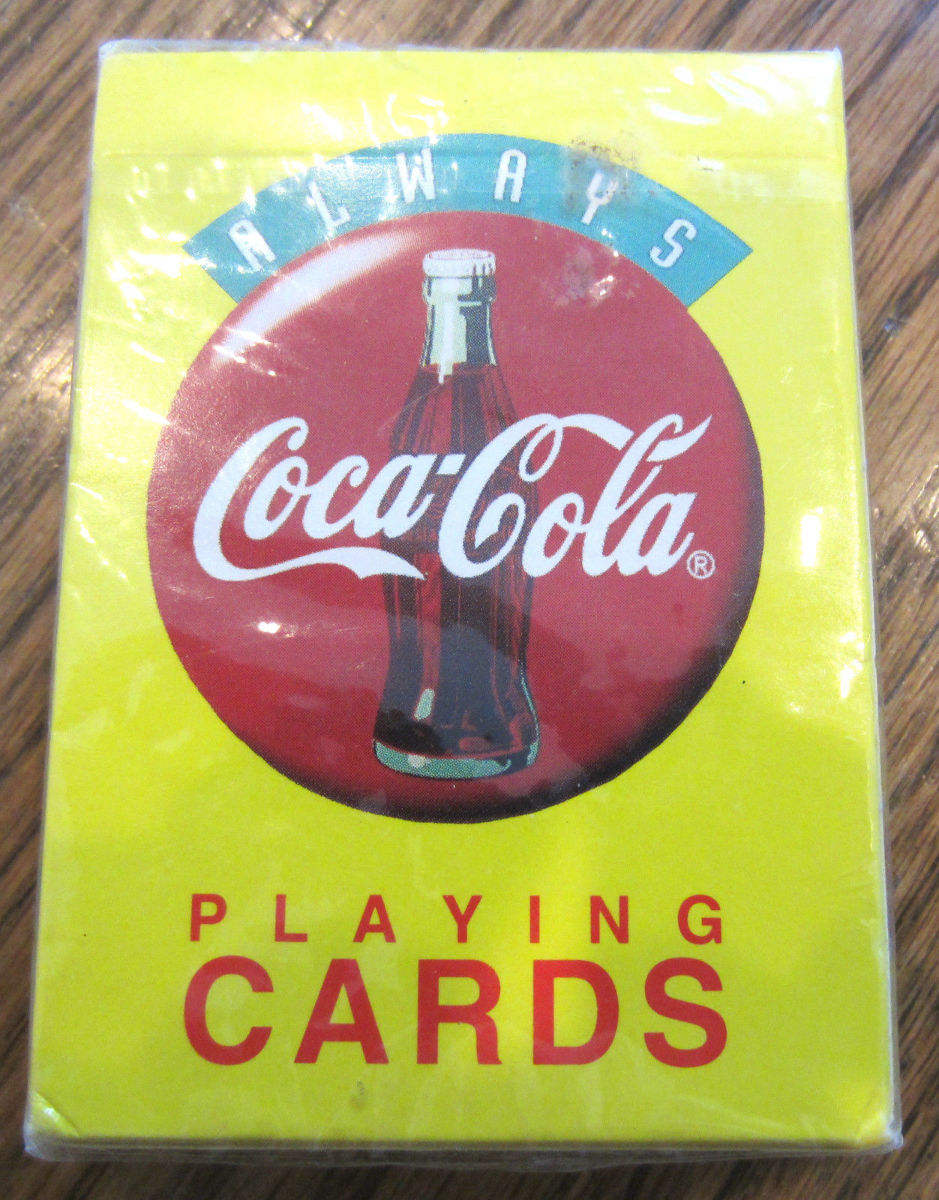 coca cola playing cards deck new sealed set dragonfly whispers. Black Bedroom Furniture Sets. Home Design Ideas