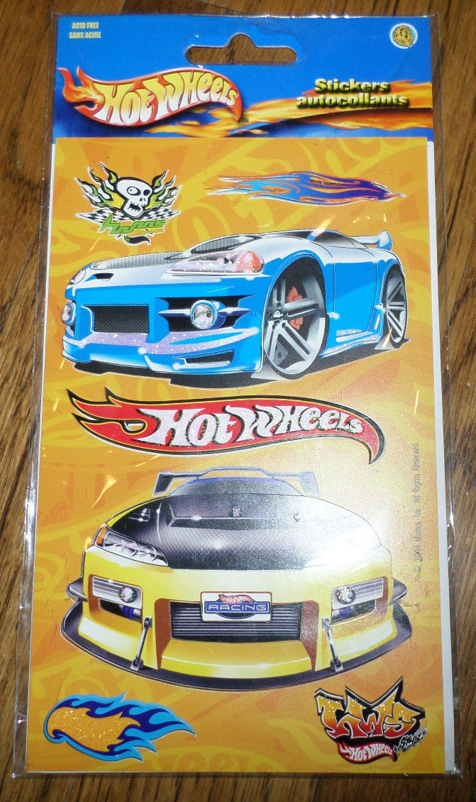 Hot wheels stickers autocollants 3 d scrapbook card for Autocollant mural