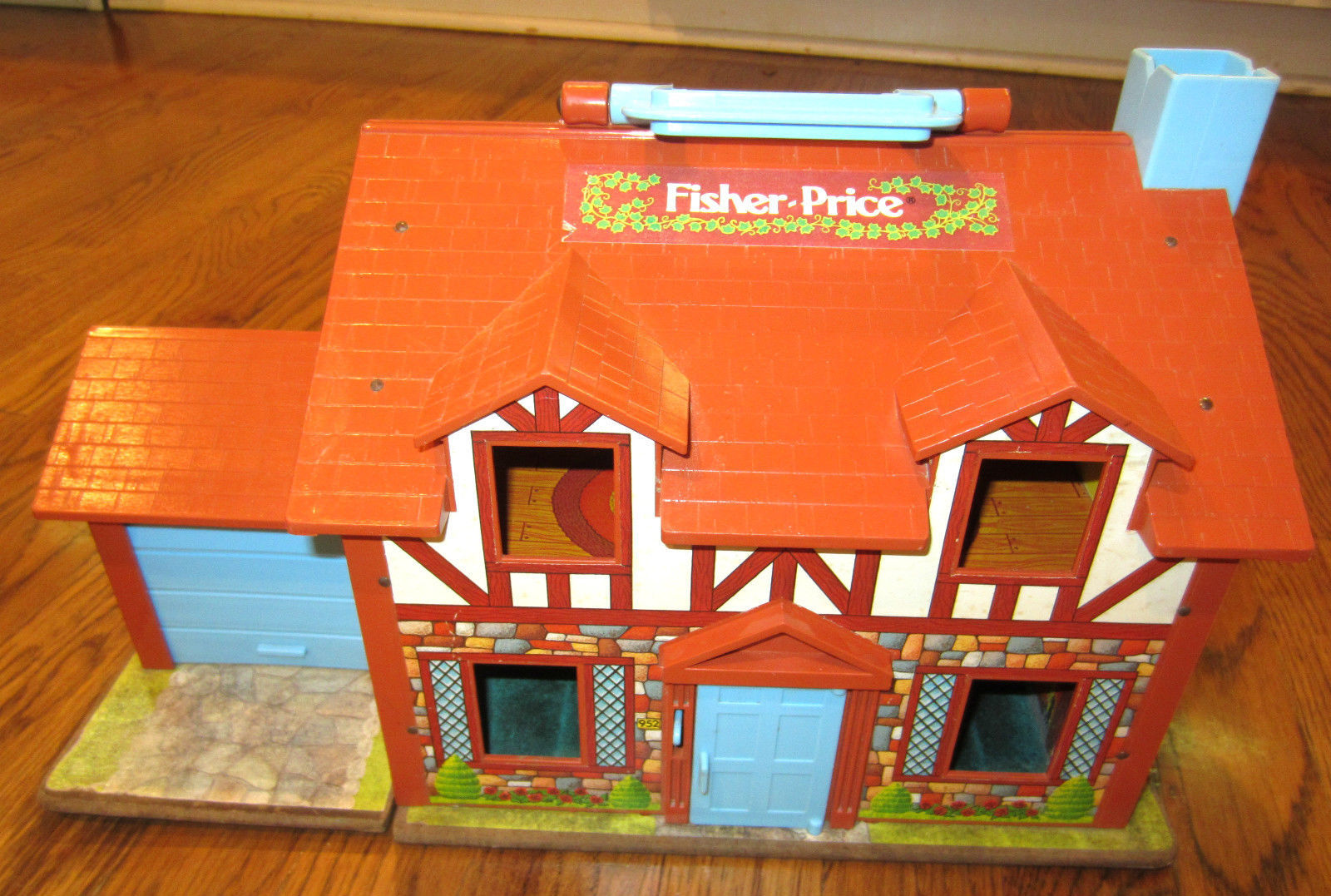 Fisher Price Vintage Little People Play Family Tudor Doll House People Furniture