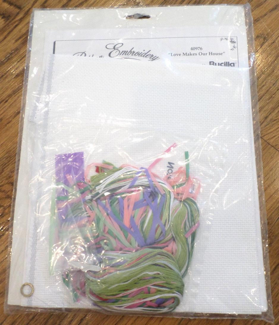 Bucilla counted cross stitch ribbon embroidery love makes