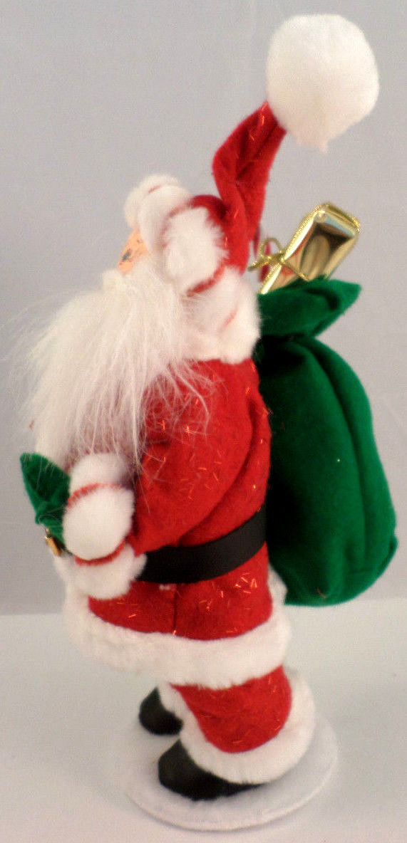Annalee holiday santa claus with bag of gifts toys