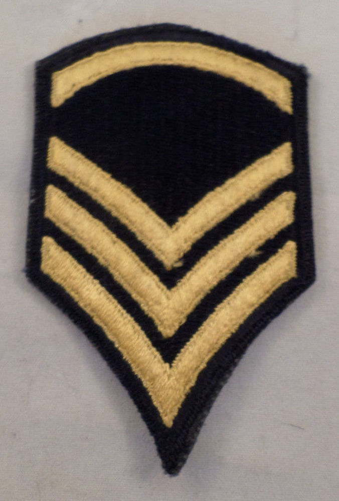Chevron 3 Stripes Navy And Gold Uniform Patch Military # ...
