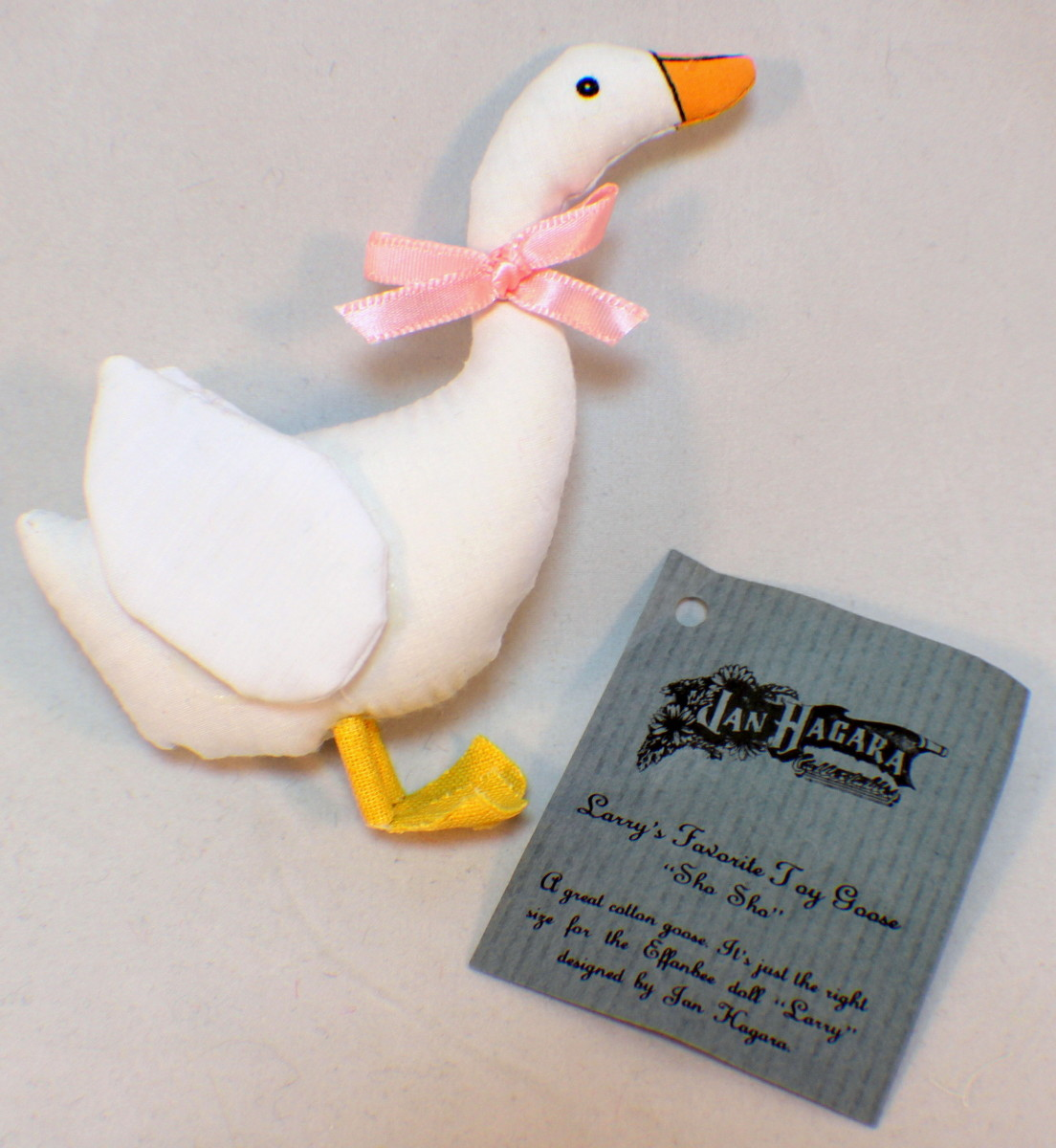 Jan Hagara Lithograph: Vintage Jan Hagara Minty Crisp Larry Doll's Toy Goose Duck
