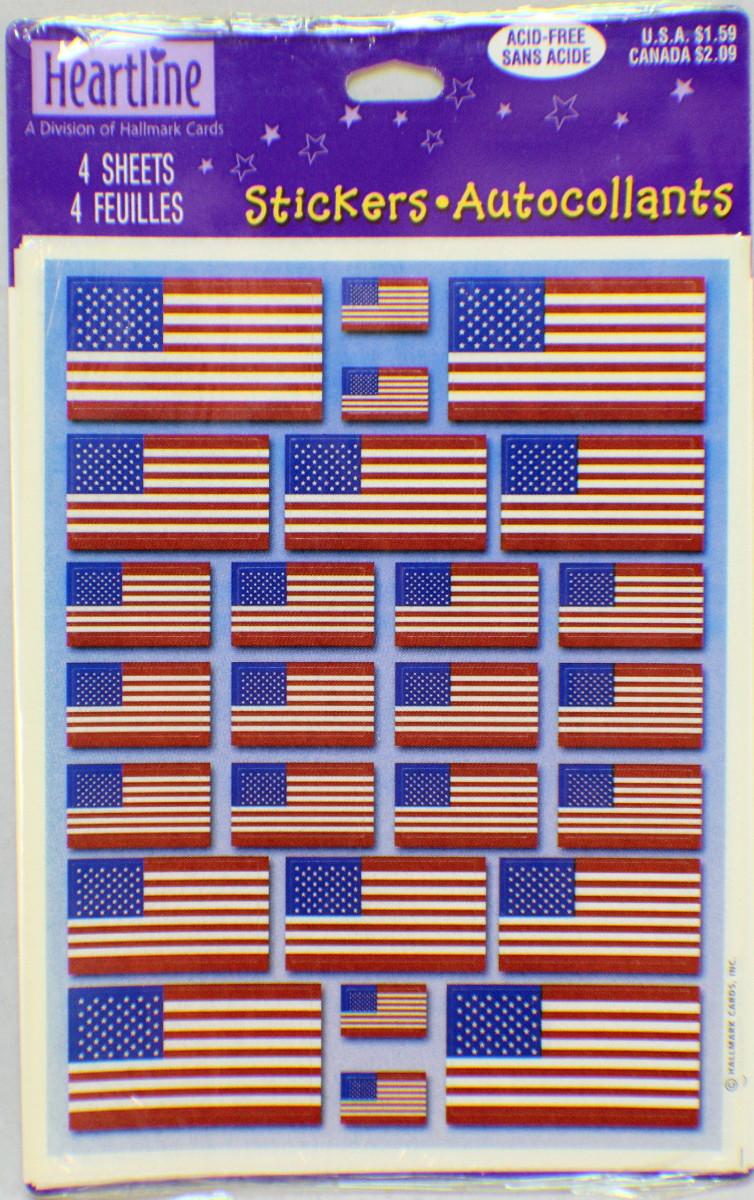 Hallmark Cards Heartline Vintage Freedom Flags Usa Us
