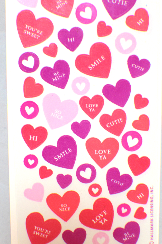 Hallmark Cards Heartline Sticker Valentine Romantic Friendly – Hallmark Valentine Cards