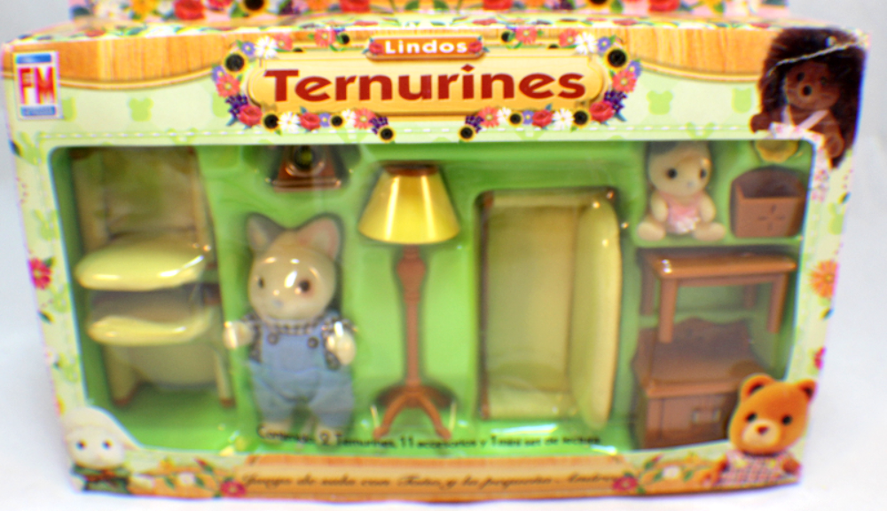 sylvanian families kittens cat ternurines living room set rare mexican packaging - Sylvanian Families Living Room Set