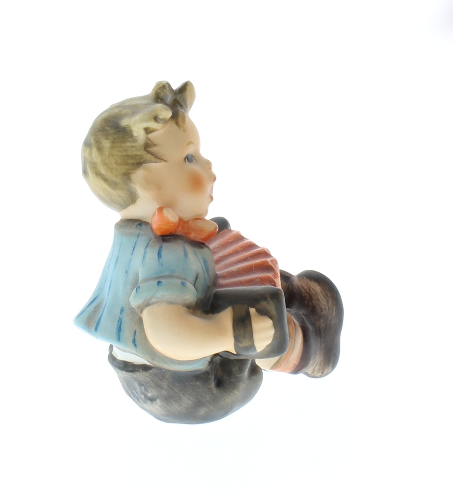 Hummel Goebel Figurine Little Boy Sitting With An Accordian 390 Dragonfly Whispers