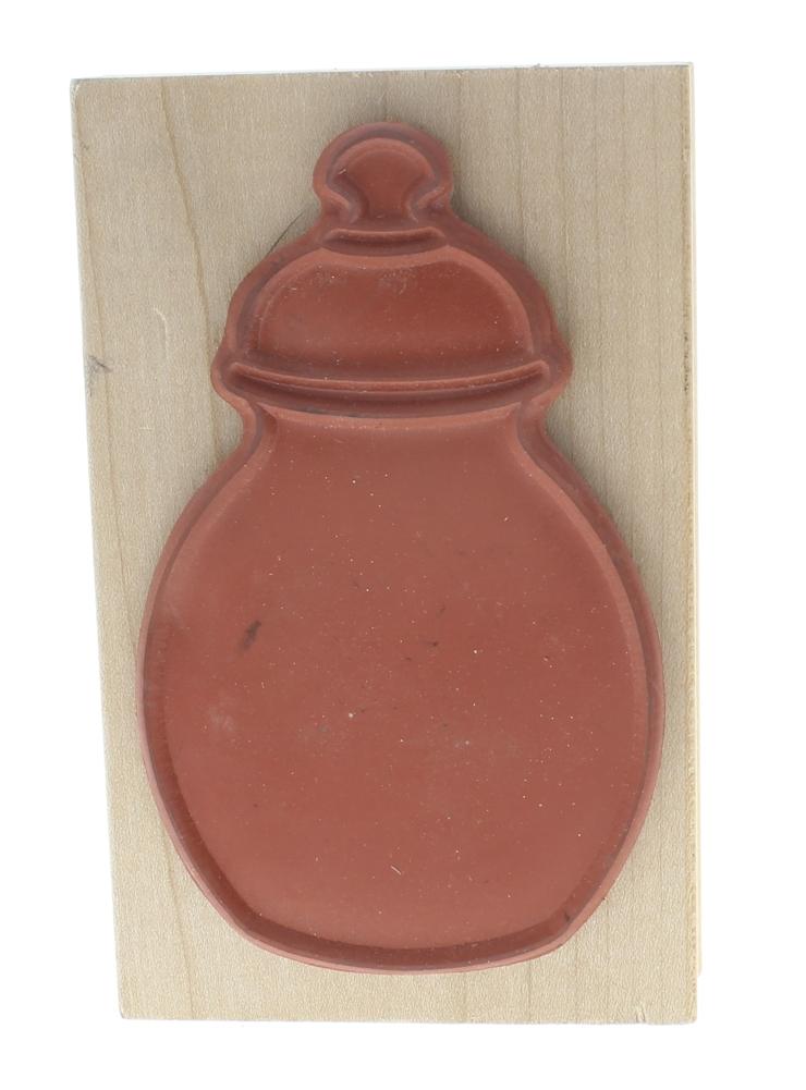 Baby Bottle Outline Vase Decanter Jar Wooden Rubber Stamp ...