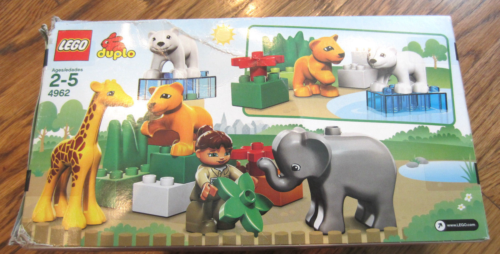 Lego Duplo 4962 Baby Zoo New Giraffe Elephant Polar Bear