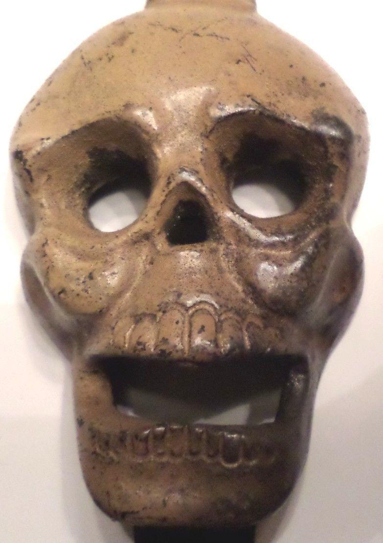 Cast Iron Wall Mount Skull Face Bottle Opener Halloween