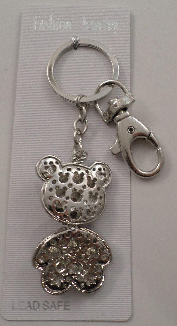 3d46f99e534 Rhinestone Bling Jelly Belly Teddy Bear Key Chain Purse Fob ...