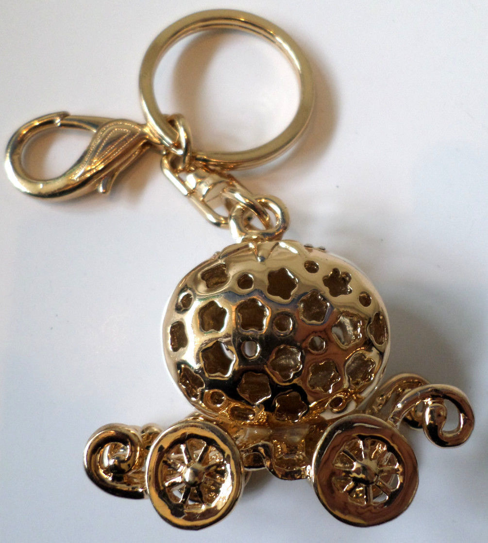 cinderella carriage coach rhinestone bling white purse key