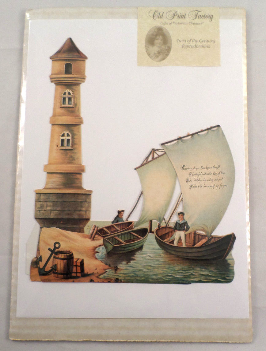 Victorian turn of the century happy birthday lighthouse greeting victorian turn of the century happy birthday lighthouse greeting card kristyandbryce Choice Image