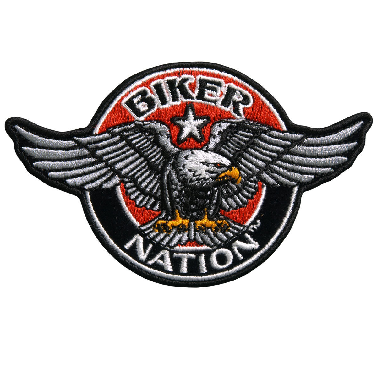 "Motorcycle Biker Uniform Patch 4"" X 3"" Biker Nation Eagle ..."