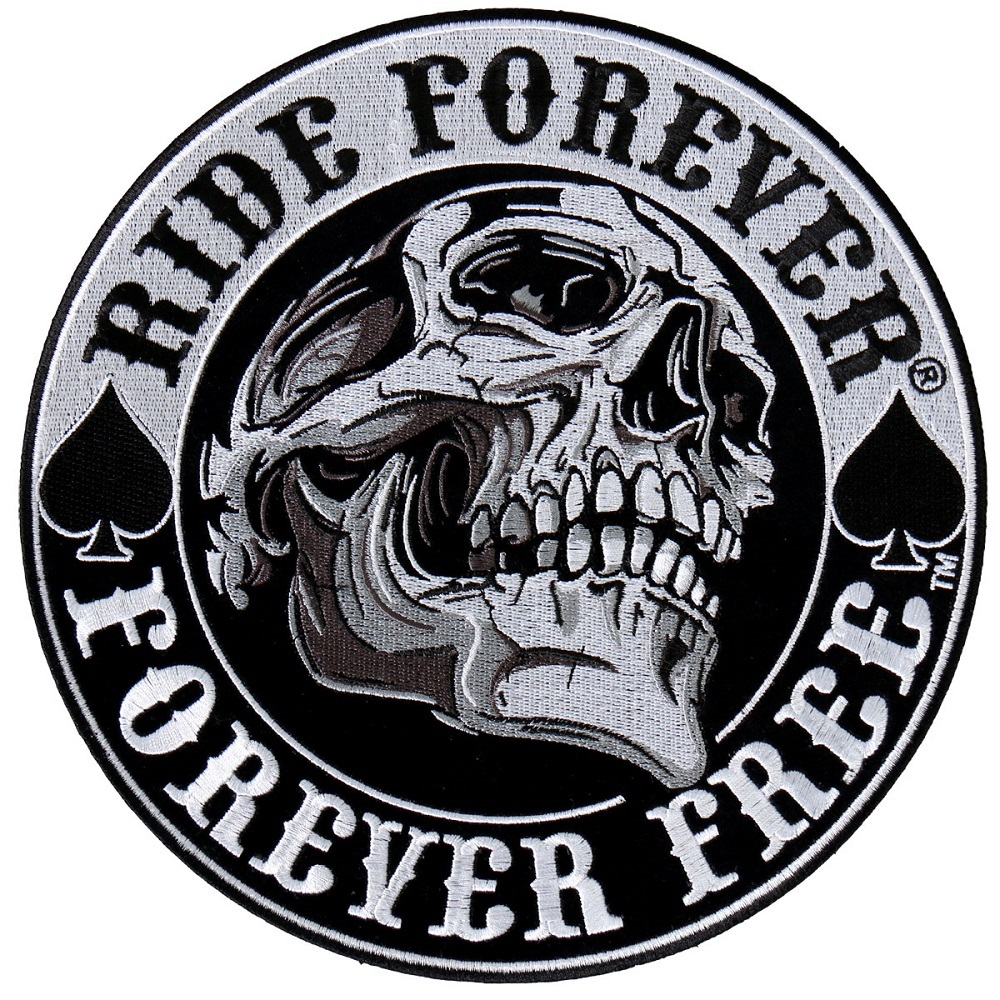 Ride Forever Forever Free Skull Motorcycle Uniform Patch ...