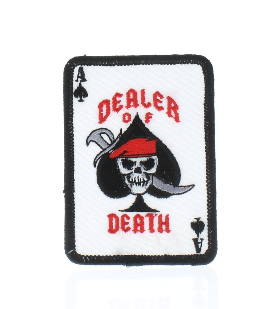 "Motorcycle Biker Uniform Patch 3"" Dealer Of Death Pirate"