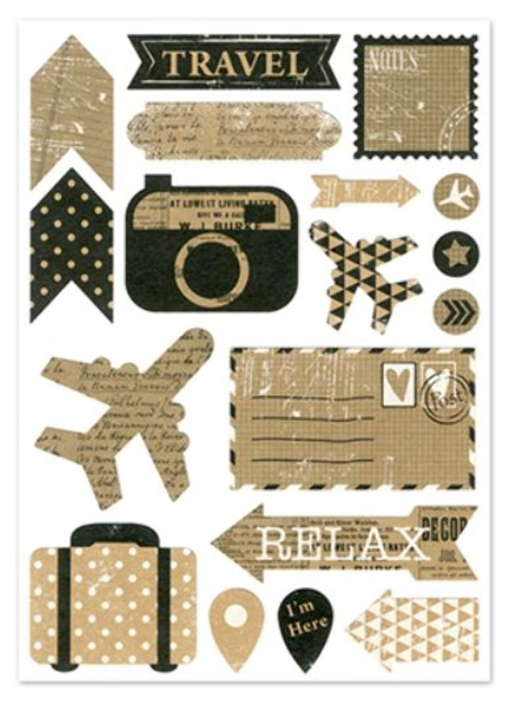 Kraft Sticker Scrapbooking Vintag Style Vacation Travel ...