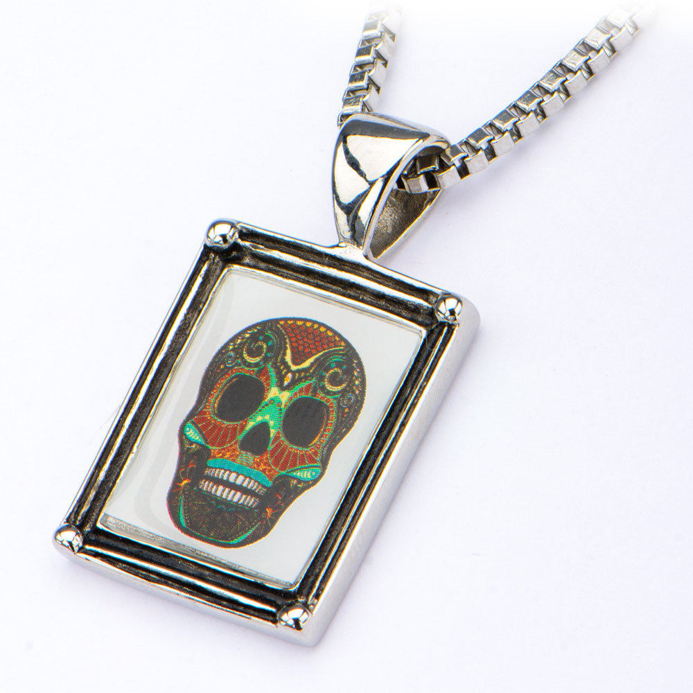 dia products il los cameo necklace muertos fullxfull flower skull pendant and small sugar de diamonds