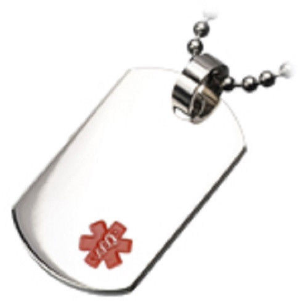 New Stainless Steel Zodiac Dog Tag Pendant Men S Women S: Inox Stainless Steel Medical Alert Dog Tag Pendant