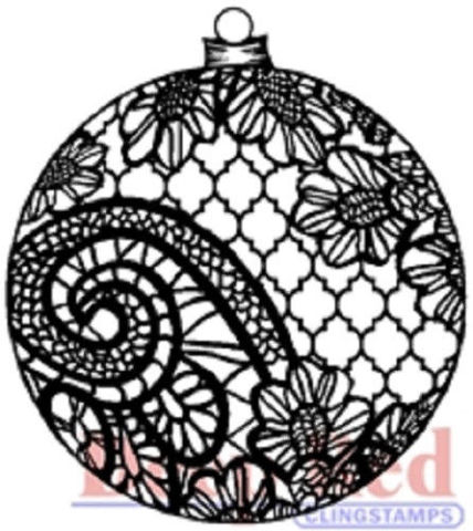 Image result for DEEP RED CLING STAMP lace ornament