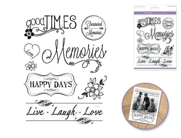 Forever in Time Clear Cling Rubber Stamp Making Memories Quotes Words
