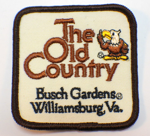 Vintage Uniform Patch The Old Country Busch Gardens Williamsburg Va Dragonfly Whispers