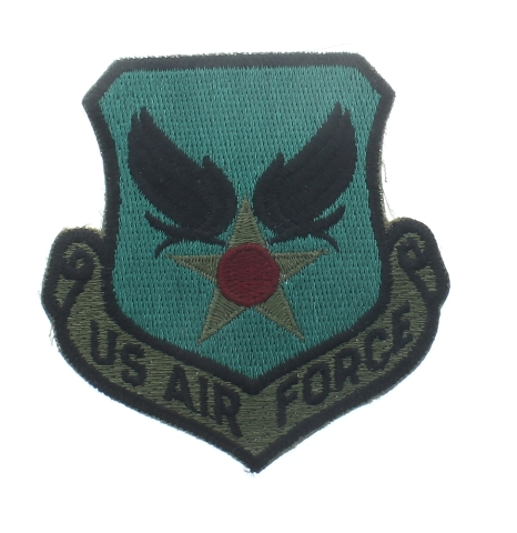 Us Air Force Symbol Subdued Shield Style Uniform Patch United