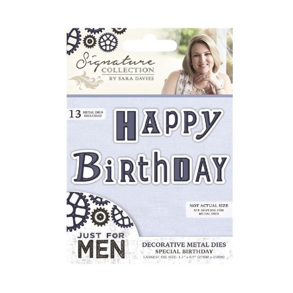 Crafter\'s Companion Metal Die Cut Template Happy Birthday Just for ...