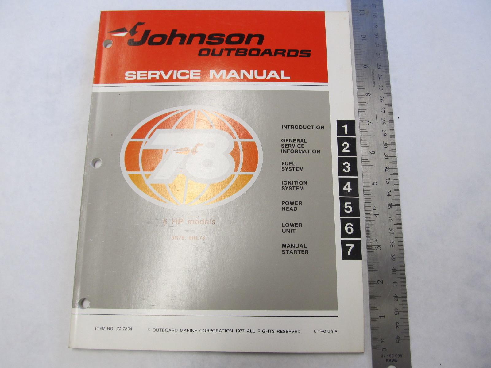 2004 Johnson Outboard Service Manual