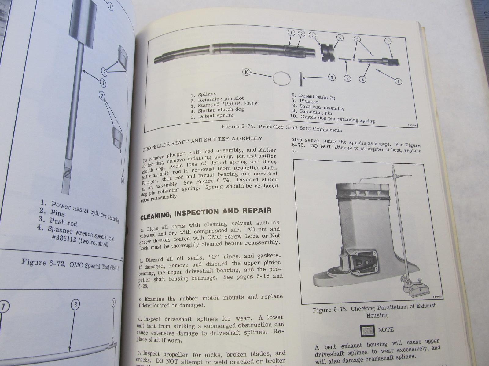 1978 Johnson Outboard Service Manual 175 235 Hp Green