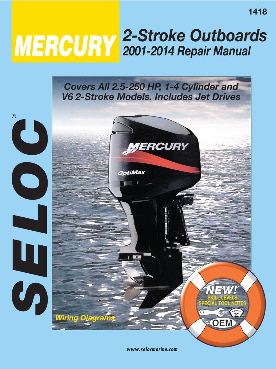 Mercury 2 5 250 hp outboard 2001 09 repair shop service for Outboard motor repair shop