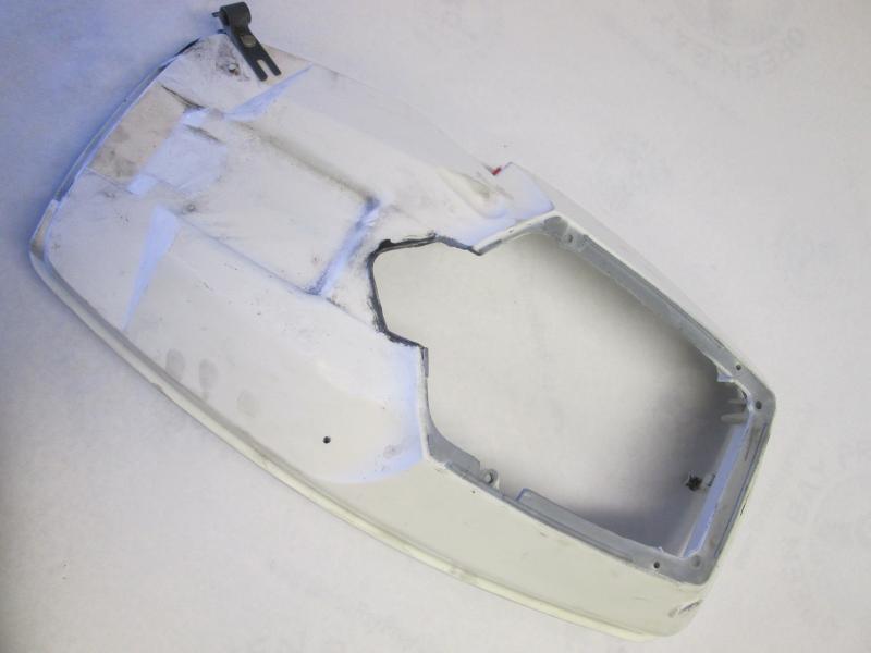 397382 white evinrude johnson lower motor cover outboard for Boat motor covers johnson