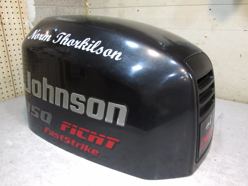 0437595 engine cover johnson outboard ficht motor cover for Boat motor covers johnson