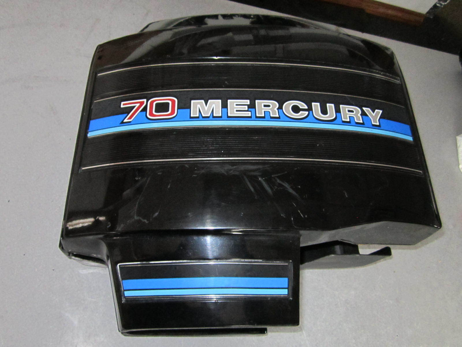 Mercury 70 hp outboard clam shell engine cowling cover for Mercury outboard motor cowling