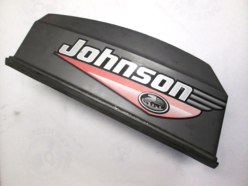 5000417 johnson engine cover assembly 50hp outboard for Boat motor covers johnson