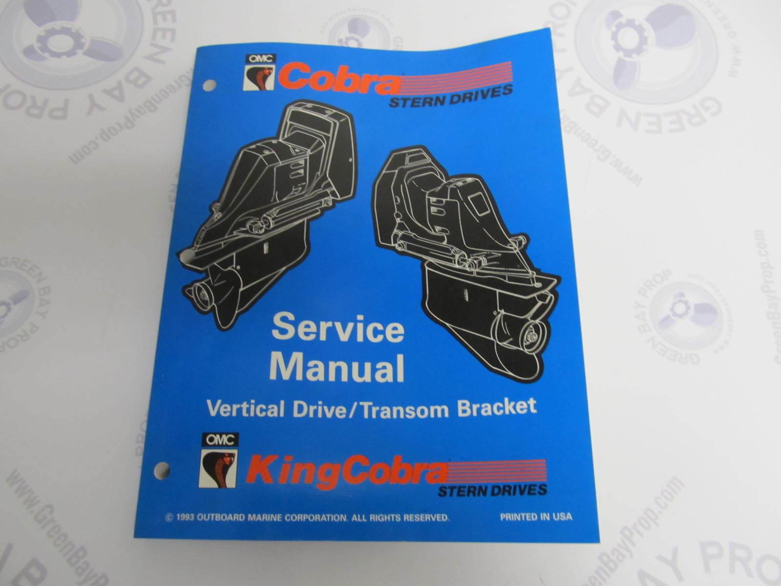 500593 Omc Cobra Stern Drive Service Manual Quot Md Quot Vertical border=