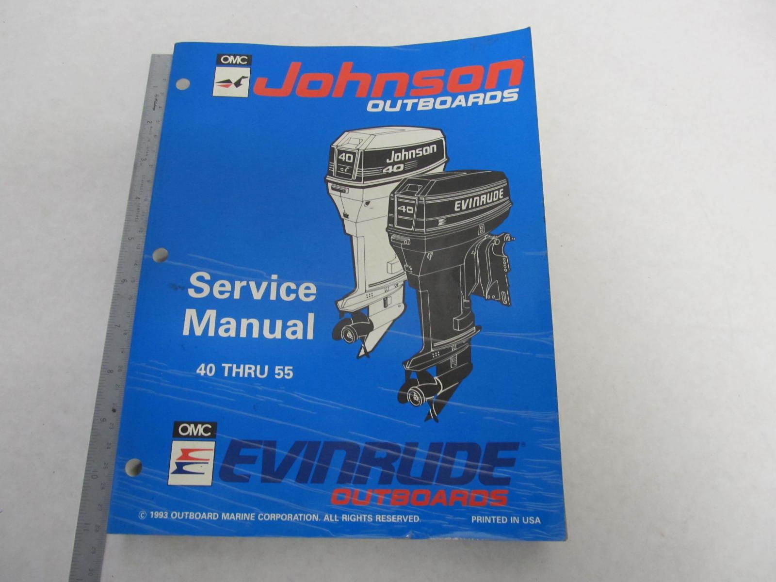 500608 Evinrude Johnson Outboard Service Manual 40 55 Er