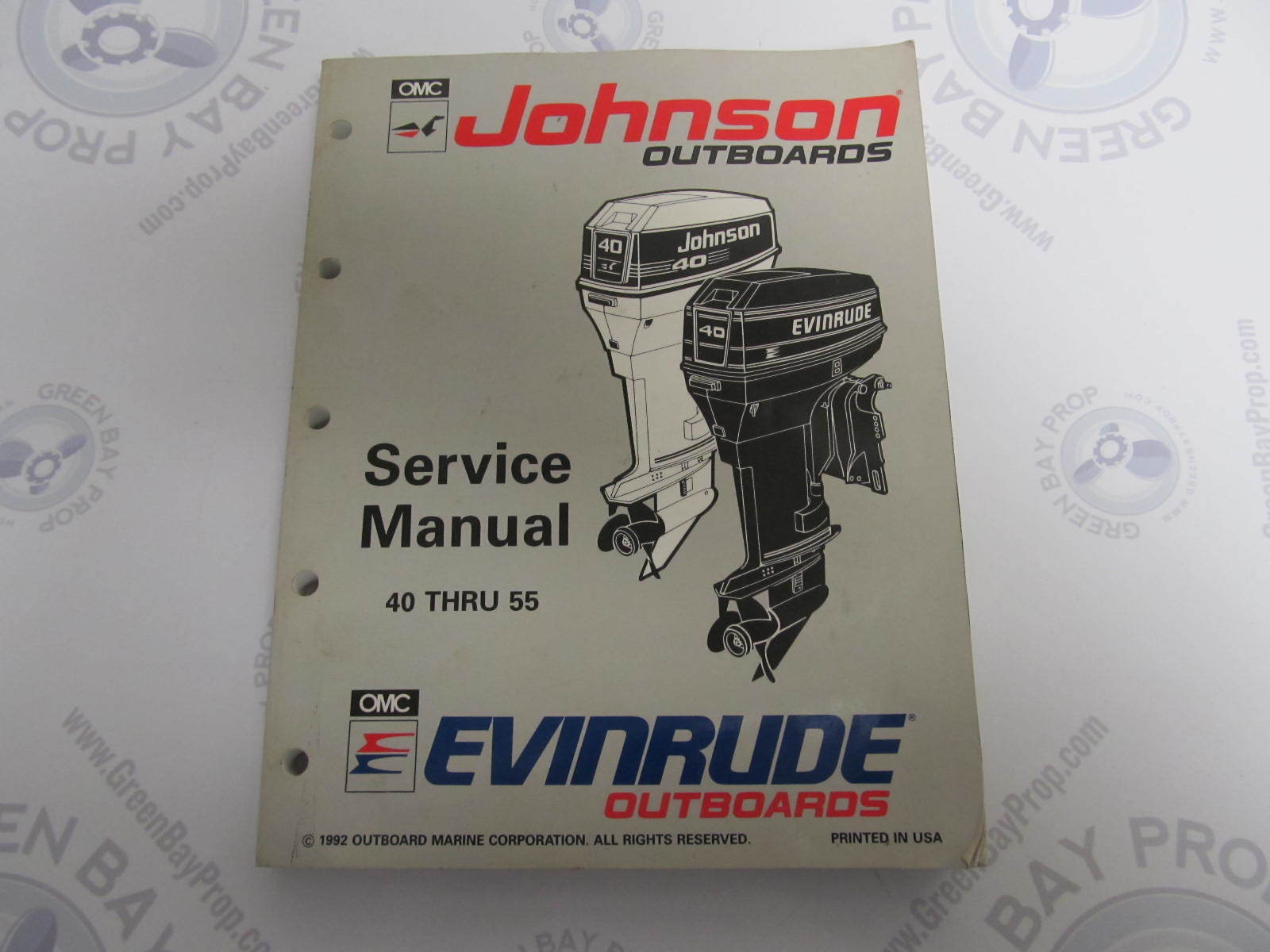 508283 evinrude johnson outboard service manual et 40 55 for Johnson outboard motor repair