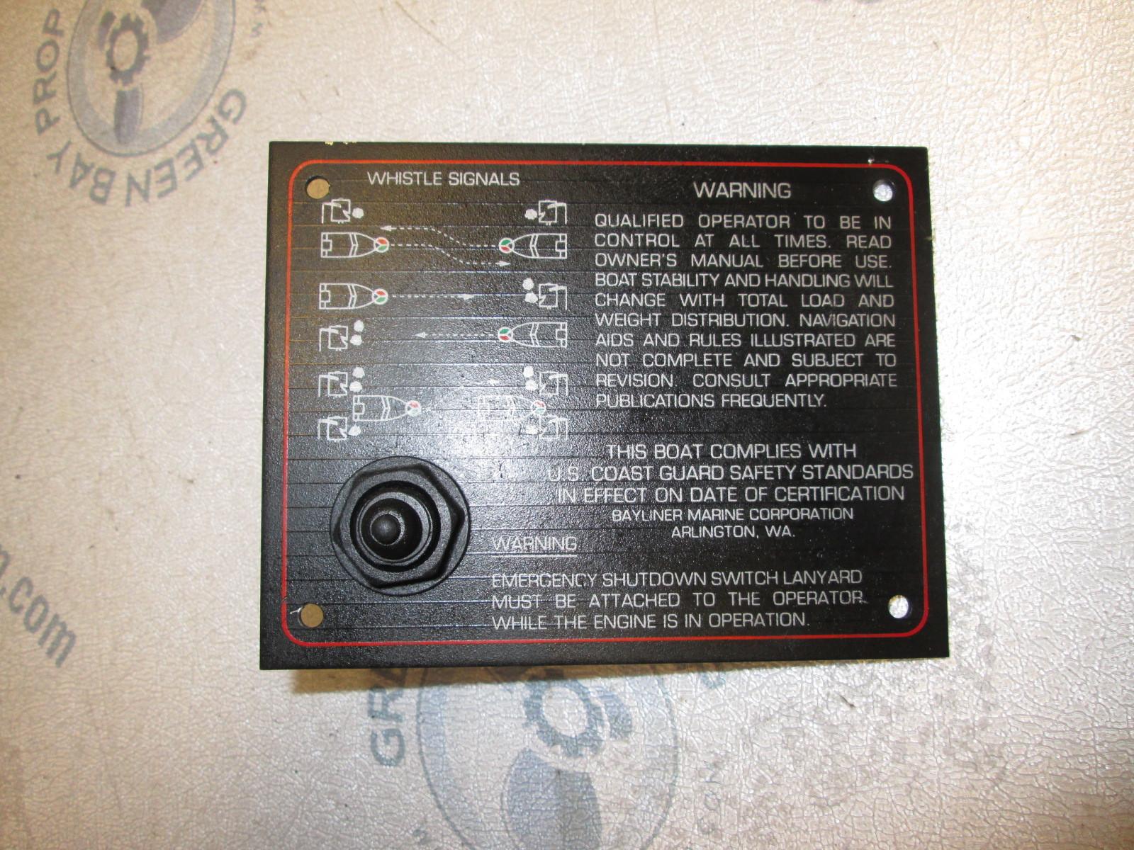 Suzuki Boat Motors >> 1987 88 89 Bayliner Capri Boat Emergency Shutdown Switch Dash Panel Section | Green Bay ...