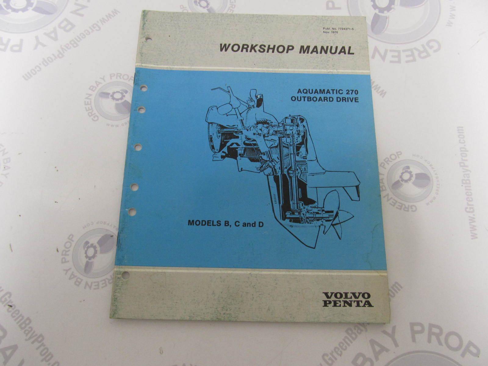 7724371 5 volvo penta aquamatic service workshop manual 270 outboard rh greenbayprop com volvo penta 270 outdrive service manual Volvo Penta 270 Diagram