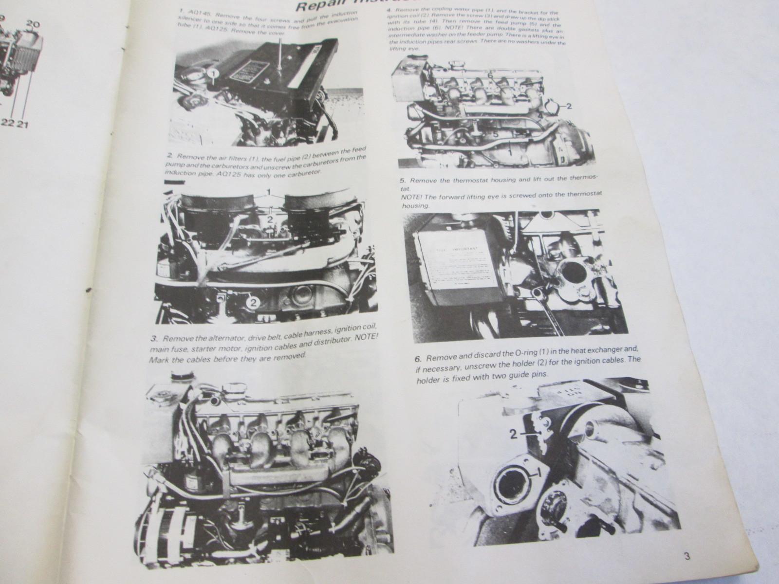 Aq145 Manual Auto Electrical Wiring Diagram 1984 Volvo Penta Aq125a Engine Aq145a Stern Drive Workshop