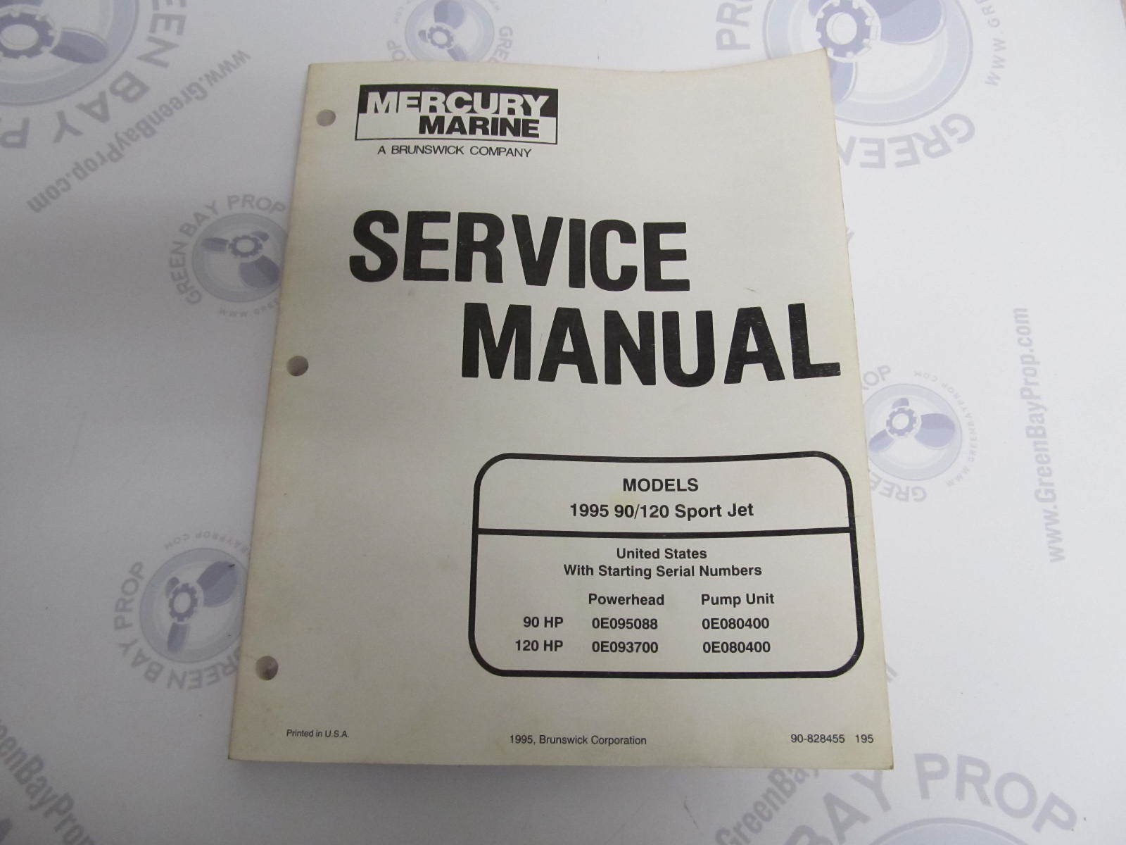 1995 Mercury Mariner Outboard Service Manual 90 120 Sport Jet
