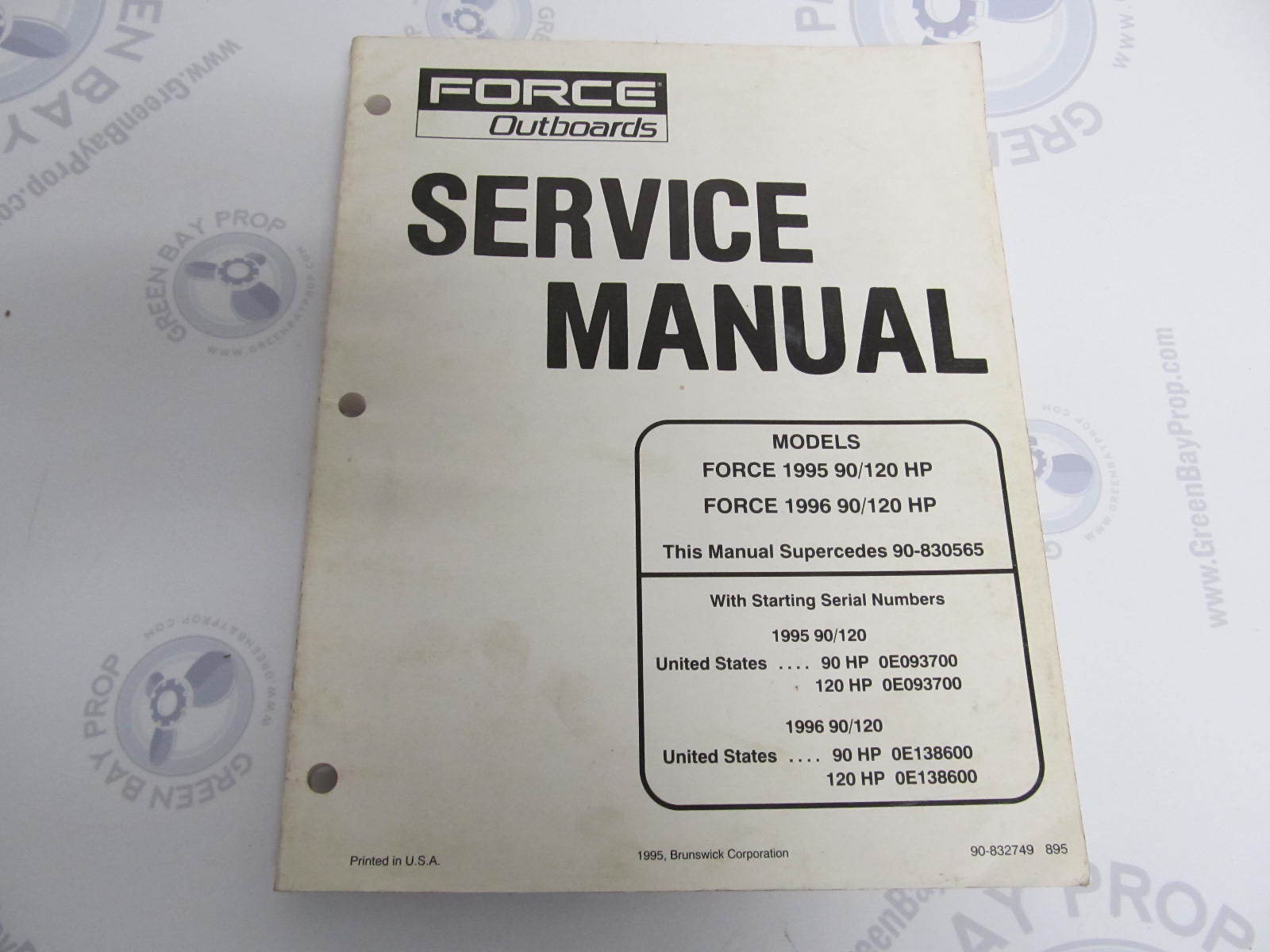 90 832749 mercury force outboard service manual 90 120 hp 1995 96 rh greenbayprop com 120 hp force outboard motor service manual 120 hp force outboard motor service manual
