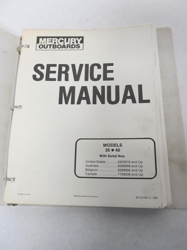 90 42794 1 mercury outboard service manual 35 40 hp 1985 mercury 35 hp outboard service manual mercury 35 hp outboard service manual