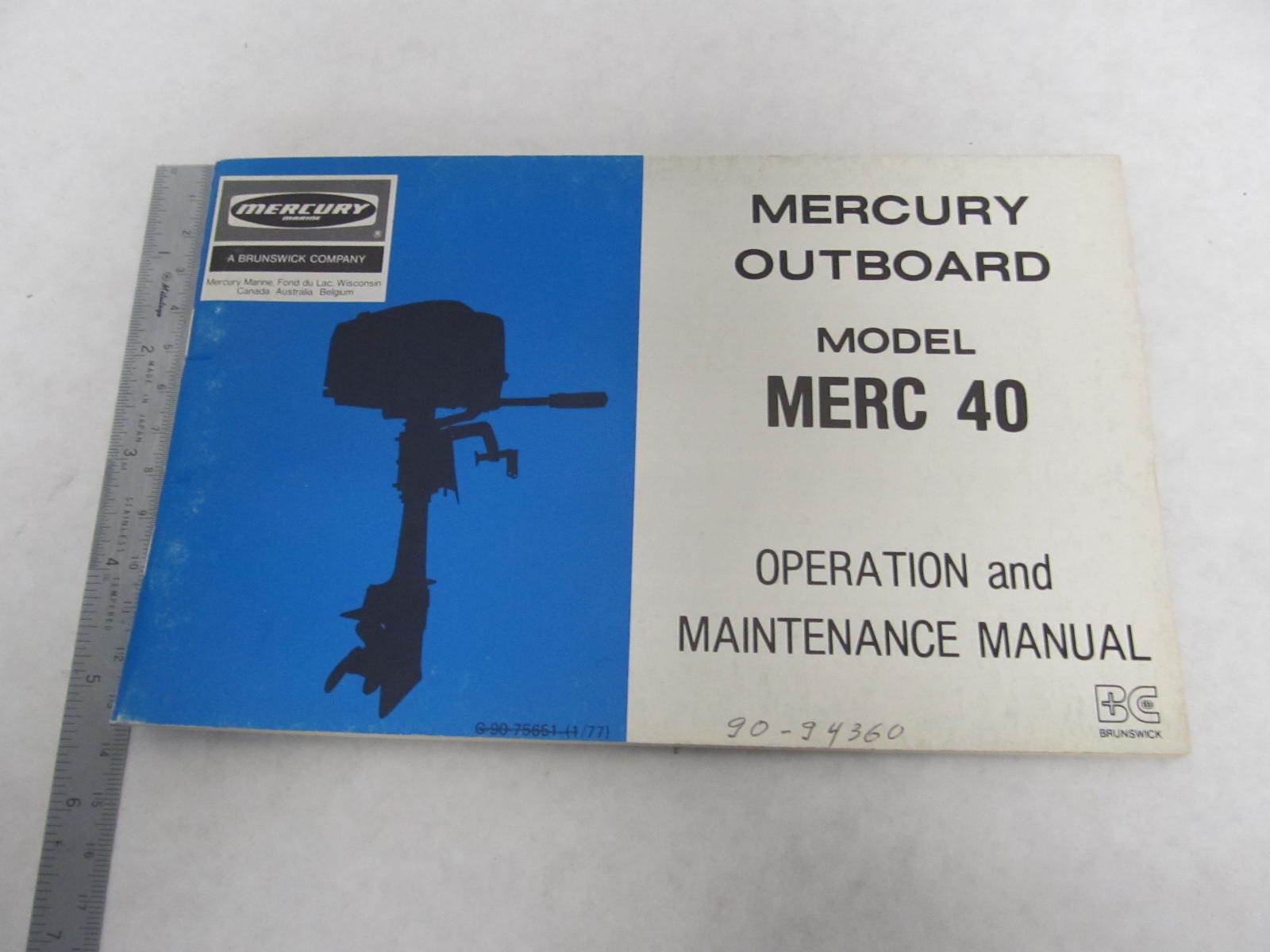 mercury model 40 4 hp manual