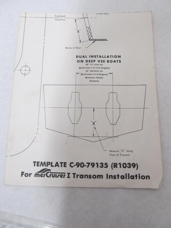 Mercruiser I Transom Installation Template Diagram C 90