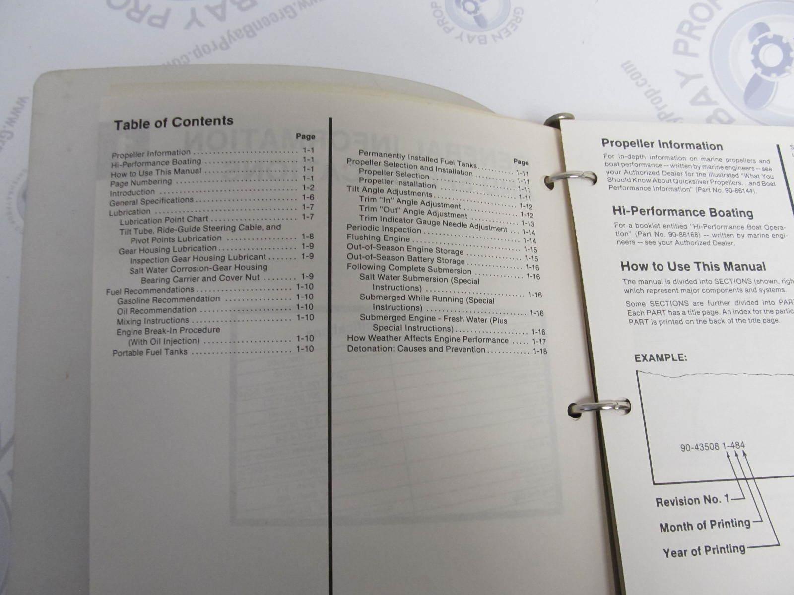 Mercury Mariner Outboard Service Manual