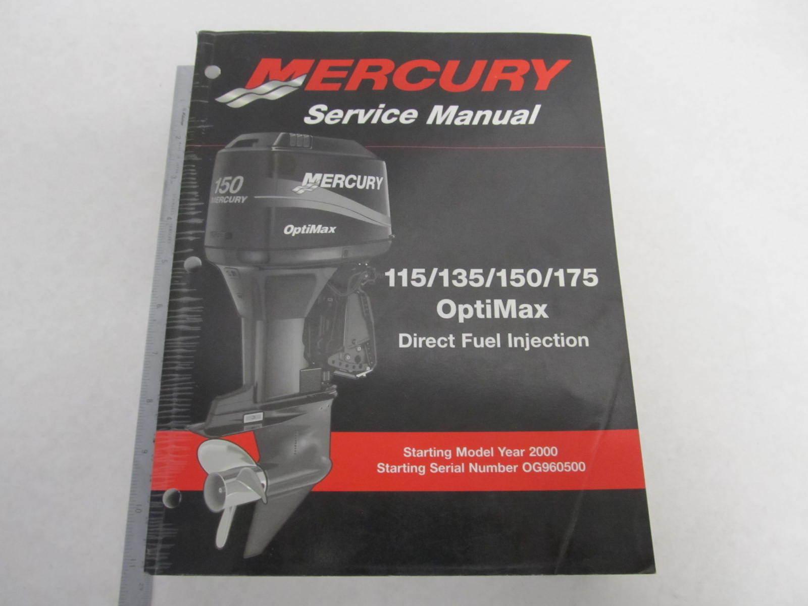 mercury optimax 115 135 150 175 outboard repair manual
