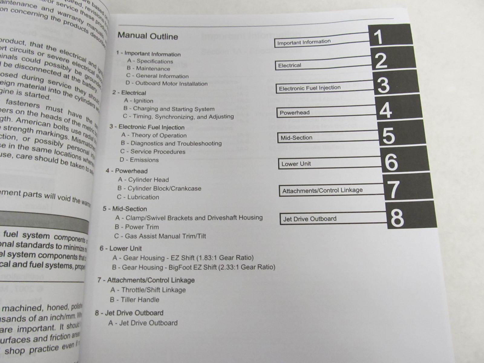 mercury 40 hp 4 stroke service manual